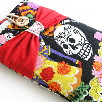 Kindle case, Kindle Sleeve, Nook case,Bow Kindle fire sleeve cover, nook cover, Google nexus 7 case-Gothic