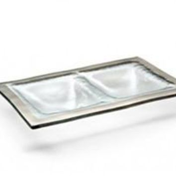 Annieglass Roman Antique Two Section Dish