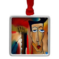 merger-abstract art metal ornament