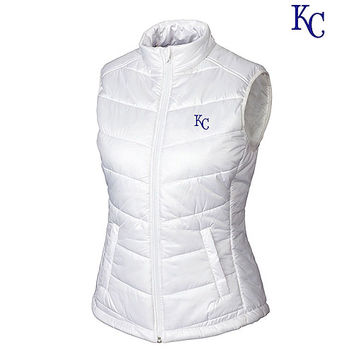 Kansas City Royals Women's Double Major Quilted Vest by Cutter & Buck - MLB.com Shop