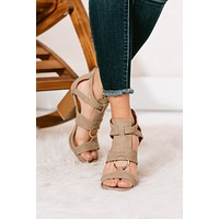 Say Hello O-Ring Heeled Sandals (Warm Taupe)