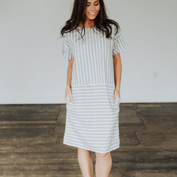 Lexi Linen Striped Dress