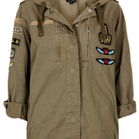 Badge Hooded Short Parka - New In This Week  - New In