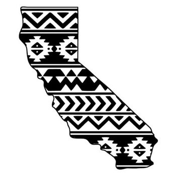 Aztec/Tribal California Decal Aztec Car Window Decal Tribal Car Decal