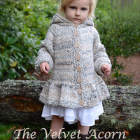 KNITTING PATTERN-The Cloudyn Sweater (2/3,  4/5, 6/7, 8/9, 10/11 years)
