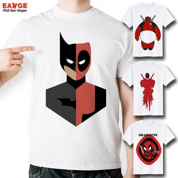 [EATGE] Creative Top Cool T Shirt Funny T-shirt Fashion Design Style Tee White Short Sleeve Printed Men Women Tshirt