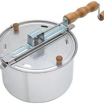 WHIRLEY POP Stovetop Old Fashioned Popcorn Popper Maker - Brand New !