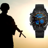 INFANTRY Mens Wrist Watch Military Digital Black Outdoor Tactical