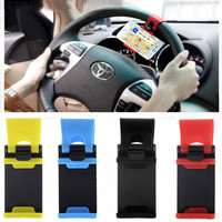 Universal Car Steering Wheel Phone Socket Holder Navigate Case Cover For iPhone Samsung S6 S4 J5 Huawei P8 Lite Xiaomi HTC Sony