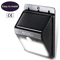 Solar Motion Sensor Lights, Hetekell Super Bright Outdoor LED Solar Powered Waterproof Wireless Security Bright Light for Garden, Deck, Yard, Driveway, Stairs Auto On / Off -No Tools Required
