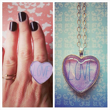 Love Necklace and Matching Ring set