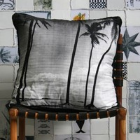 PALM STRIPE CUSHION | HOMEWARES | AHOY TRADER