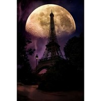 Moonlight in Paris Poster Print by John Rivera (12 x 18) - Walmart.com