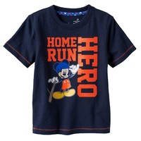 Disney's Mickey Mouse ''Home Run Hero'' Slubbed Tee by Jumping Beans - Toddler Boy, Size: