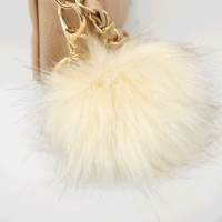 Faux Fur Pom Pom Keychain | Wet Seal