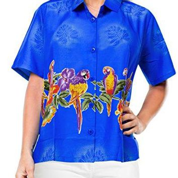 Women Hawaiian Shirt Beach Top Aloha Holiday Tank Blouses Casual Regular Fit