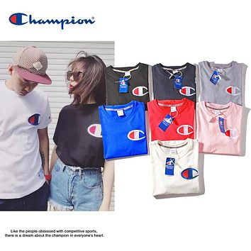 2019 Champion Big C Logo Embroidery Tshirt S--XXL