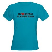 My Heart Belongs to a Guitar Player Women's Dark T> My Heart Belongs to a Guitar Player t-shirt> Snapetees