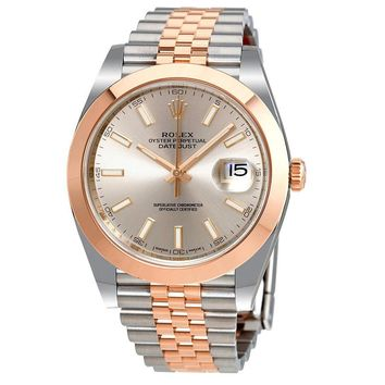 Rolex Datejust 41 Sundust Dial Steel and 18K Everose Gold Automatic Mens Watch