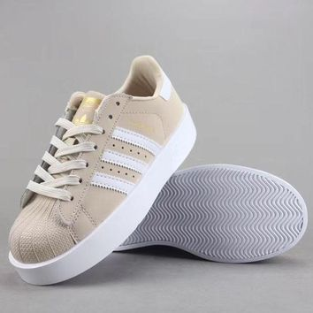 Adidas Superstar Bold W Women Men Fashion Casual Old Skool Low-Top Shoes-4