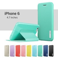 iPhone 6 Case, ESR Yippee Colour Series Protective Case Wallet [Multi-Stand View Angles] Flip Cover Folio Case for 4.7 inches iPhone 6 (Mint Green)