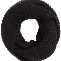 Be Fore-Warmed Black Knit Infinity Scarf