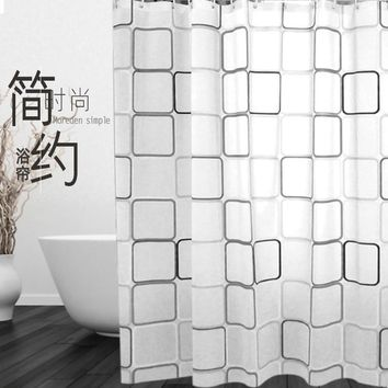 JaneYU Bathroom, Curtain, Peva Plastic Thickening, Mould Proof, Bath And Shower Curtain.