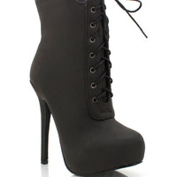lace-up-ankle-boots BLACK BROWN NUDE - GoJane.com