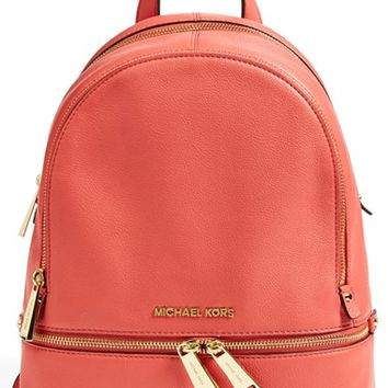 03956d44ab60 Women's MICHAEL Michael Kors 'Small Rhea Zip' Leather Backpack