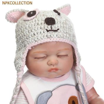NPKCOLLECTION 18 Inch 45CM Silicone Reborn Dolls Babies Real Sleeping Reborn Baby Bonecas Children Toys Brinquedos Real Dolls