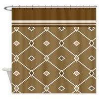 Brown Diamonds Shower Curtain> Shower Curtains> We Tees You
