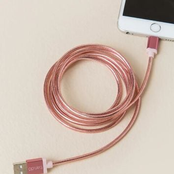 Ban.do Back Me Up! Rose Gold 60 Inch Metallic Charging Cord