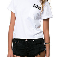 The Bar Logo Crop T-shirt in White