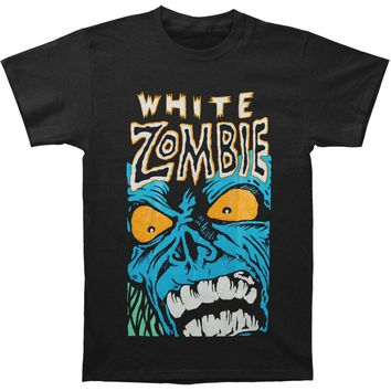 White Zombie Men's  Blue Monster T-shirt Black
