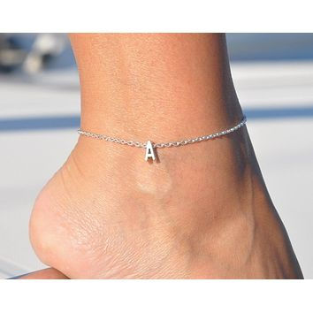Capital Letter Anklet