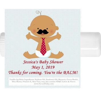 15 Little Man Baby Shower Lip Balm Favors Dark Skin