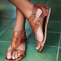 Bed Stu Womens Soto Washed Leather Sandal