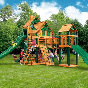 Gorilla Playsets Treasure Trove II Treehouse Wooden Swing Set