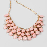 Brenham Teardrop Necklace In Pink