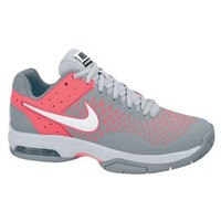 Nike Air Cage Advantage Grey/Atomic Red Ladies Tennis Shoes