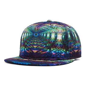 Hats For Men Snapback Hats 3D Eye Pattern Hip-Hop Baseball Cap Retro Bones Hats For Men SM6