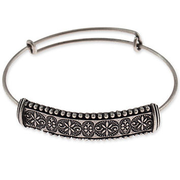 Alex and Ani Trapeze Bangle Russian Silver