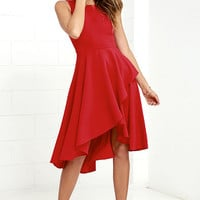 Chance to Dance Red High-Low Dress