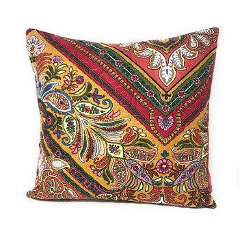 "Tache 2 Piece Hanging Gardens Red Floral Cushion Throw Pillow Covers 18 x 18"" (HS3148)"