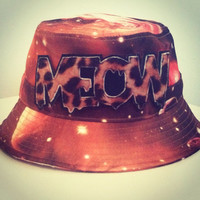 Orange Cosmic Bucket Hat