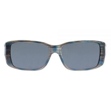 Jonathan Paul Fitovers - Nowie Brushed Steel Fitover Sunglasses / Polarvue Gray Lenses