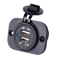 12V Dual Car Cigarette Lighter Socket Splitter USB 2.1A&1A Power Adapter Charger SS = 1708653252