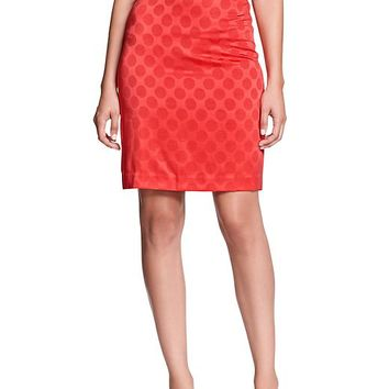 Banana Republic Womens Factory Jacquard Pencil Skirt Size 8 - Hula red