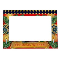 Victorian St. Nick with Gold Stars and Toys Magnetic Photo Frame