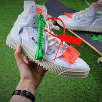PEAPU3S Virgil Abloh Design OFF-WHITE Low 3.0 Hi-Top Sneakers